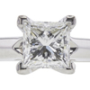 1.0 ct. Princess Cut Solitaire Ring, I, VVS2 #4