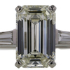 3.39 ct. Emerald Cut 3 Stone Ring #1