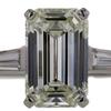 3.39 ct. Emerald Cut 3 Stone Ring #1