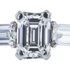 1.07 ct. Emerald Cut 3 Stone Ring, F, VVS2 #4