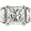 1.31 ct. Princess Cut Bridal Set Ring, G, VS1 #4