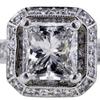 1.19 ct. Princess Cut Bridal Set Ring #4