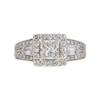 0.65 ct. Princess Cut Bridal Set Ring, F-G, SI2 #2