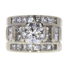 1.7 ct. Round Cut Bridal Set Ring, G, SI1 #3