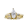 1.01 ct. Marquise Cut Bridal Set Ring, D, VS1 #3