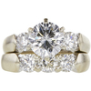 1.47 ct. Round Modified Brilliant Cut Bridal Set Ring, H, I1 #3