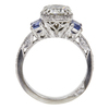 1.27 ct. Round Cut Bridal Set Tacori Ring, J, VS2 #4