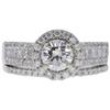 0.72 ct. Round Cut Bridal Set Ring, I-J, SI1 #1