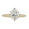 1.5 ct. Oval Cut Solitaire Ring, H, VVS2 #3