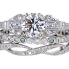 .80 ct. Round Cut Bridal Set Ring #1