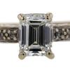 1.06 ct. Emerald Cut Bridal Set Ring #2