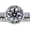 1.04 ct. Round Cut Bridal Set Ring, J, SI2 #2