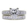 1.71 ct. Princess Cut Bridal Set Ring, H, SI1 #3