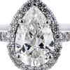 1.50 ct. Pear Cut Halo Ring #4