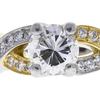 0.91 ct. Round Cut Bridal Set Ring, F, VS2 #4