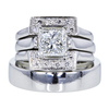 1.58 ct. Princess Cut Bridal Set Ring, G, SI1 #1