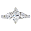 1.04 ct. Marquise Cut 3 Stone Ring, J, SI2 #3
