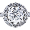 1.00 ct. Round Cut Bridal Set Ring, E, I1 #4