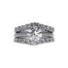 1.2 ct. Round Cut Bridal Set Ring, K, SI2 #3