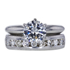 1.00 ct. Round Cut Bridal Set Ring, G, SI1 #2