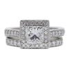 1.5 ct. Princess Cut Bridal Set Ring, G, SI1 #3