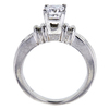 0.97 ct. Princess Cut Solitaire Ring, F-G, SI2-I1 #3