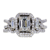 1.05 ct. Emerald Cut Bridal Set Ring, H, VVS2 #3