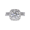 1.81 ct. Round Cut Halo Ring, I, SI1 #2