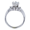 1.04 ct. Round Cut Bridal Set Ring, H, I1 #3