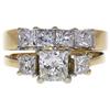 0.98 ct. Princess Cut Bridal Set Ring, H-I, VS2 #2