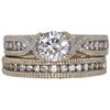 0.72 ct. Round Cut Bridal Set Ring, H, I1 #3
