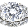 1.14 ct. Round Cut Bridal Set Ring, E, SI1 #4