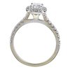 0.93 ct. Cushion Cut Bridal Set Ring, H-I, I1 #3