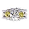 1.06 ct. Round Cut Bridal Set Ring, G, SI2 #3