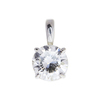 1.77 ct. Round Cut Pendant Necklace, I, I1 #3