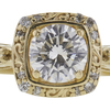 0.58 ct. Round Cut Bridal Set Ring, F, VS1 #4