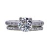 1.20 ct. Round Cut Bridal Set Ring, H, I1 #3