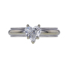 1.00 ct. Heart Cut Solitaire Ring, F, SI2 #2