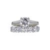 0.83 ct. Round Cut Bridal Set Ring, F, SI1 #2