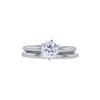 1.00 ct. Round Cut Bridal Set Ring, F, SI2 #3