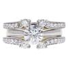0.78 ct. Round Cut Bridal Set Ring, G, SI1 #3