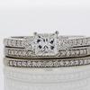 0.96 ct. Princess Cut Bridal Set Ring #3