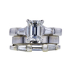 1.51 ct. Emerald Cut Bridal Set Ring, G, VVS2 #3