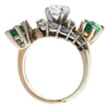 0.8 ct. Round Cut Central Cluster Ring, E, I1 #4