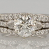 1.46 ct. Round Cut Bridal Set Ring #3