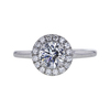 0.82 ct. Round Cut Halo Ring, F, SI1 #2