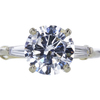 2.50 ct. Round Cut 3 Stone Ring, E, I1 #3