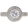 1.07 ct. Round Cut Halo Ring, E, SI1 #3