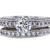 0.73 ct. Round Cut Bridal Set Ring, H, SI1 #2