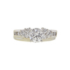 0.96 ct. Round Cut Bridal Set Ring, H, I1 #3